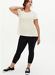 Ivory Space-Dye Hi-Lo Active Tee, IVORY, alternate