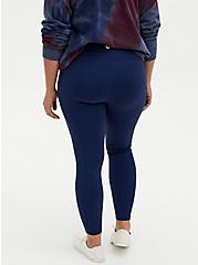 Navy Wicking Active Legging with Pockets, NAVY, alternate