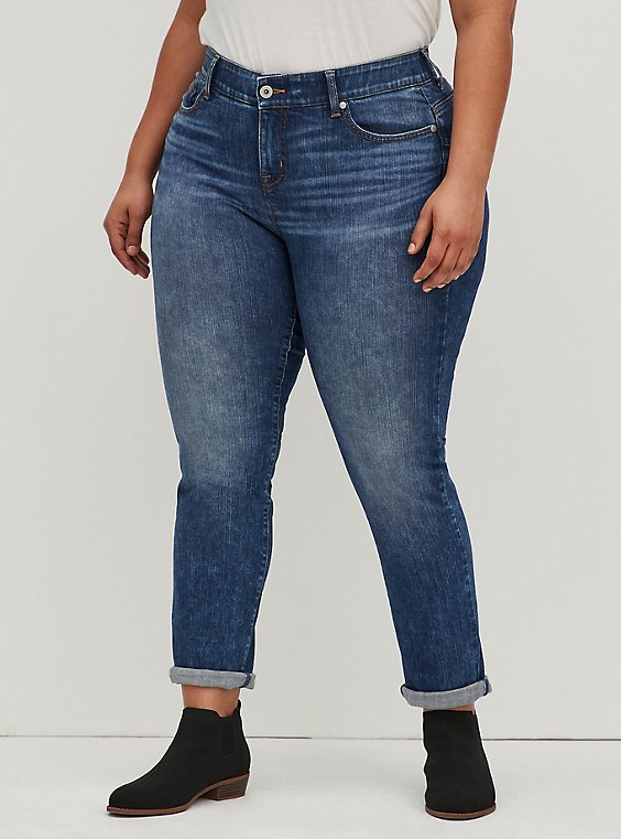 Bombshell Straight Jean - Premium Stretch Medium Wash, BEL AIR, hi-res