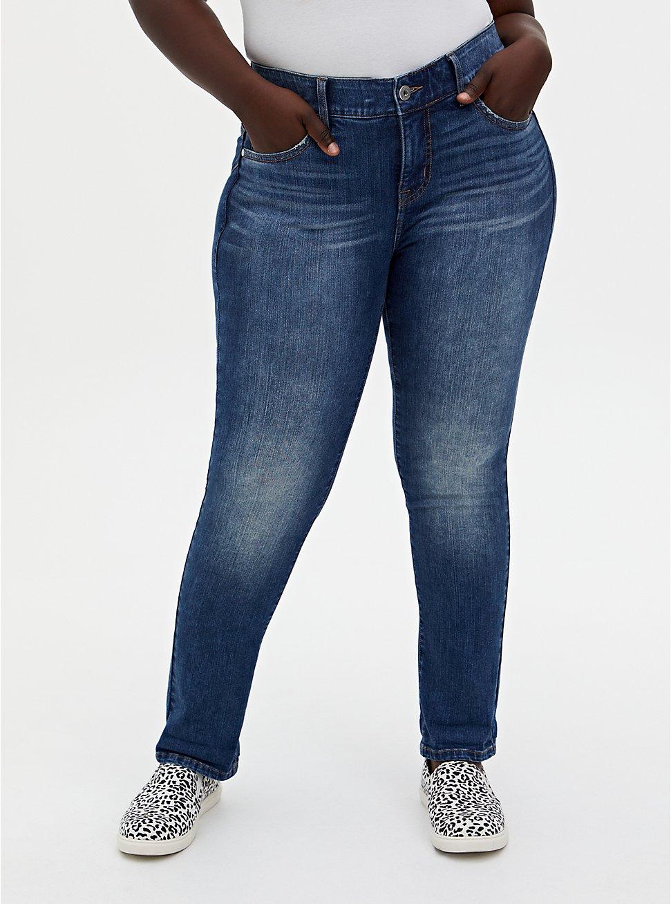 Bombshell Straight Jean - Premium Stretch Medium Wash, , fitModel1-hires