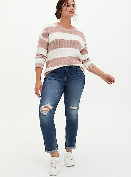 Bombshell Straight Jean - Premium Stretch Medium Wash, LOS FELIZ, alternate