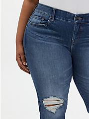 Plus Size Bombshell Straight Jean - Premium Stretch Medium Wash, LOS FELIZ, alternate