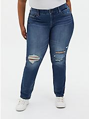 Bombshell Straight Jean - Premium Stretch Medium Wash, LOS FELIZ, alternate