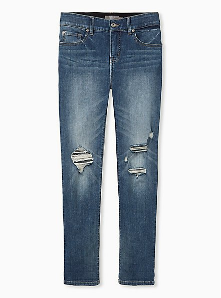Bombshell Straight Jean - Premium Stretch Medium Wash, LOS FELIZ, hi-res