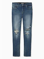 Plus Size Bombshell Straight Jean - Premium Stretch Medium Wash, LOS FELIZ, hi-res