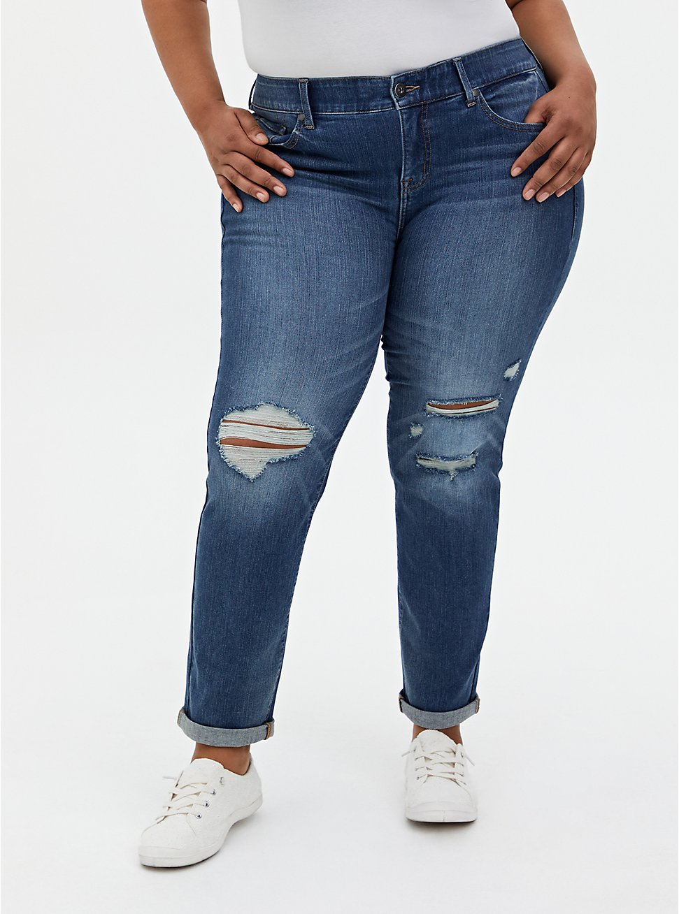 Bombshell Straight Jean - Premium Stretch Medium Wash, LOS FELIZ, hi-res