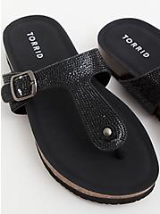 Black Rhinestone T-Strap Sandal (WW), BLACK, hi-res
