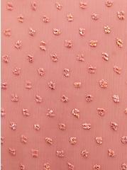 Lexie - Dusty Coral Metallic Clip Dot Chiffon Hi-Lo Babydoll Tunic, DESERT SAND, alternate