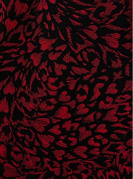 Black Heart Challis Zip Front Shirtdress, HEARTS - BLACK, alternate