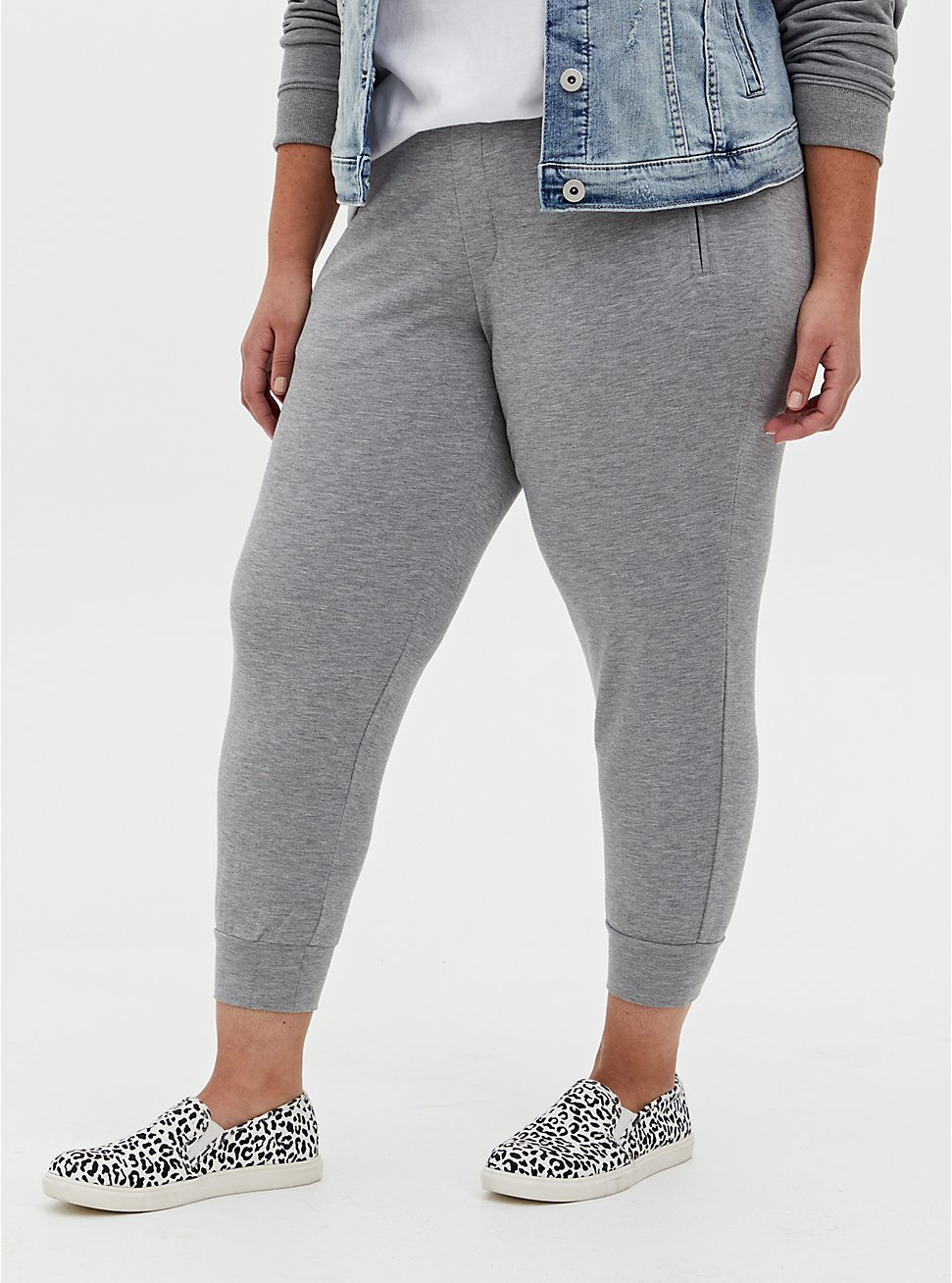 Relaxed Fit Jogger - Ponte Light Heather Grey, GREY, hi-res