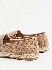 Taupe Faux Suede Perforated Espadrille Flat (WW), TAN/BEIGE, alternate