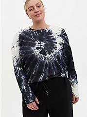 Black Tie-Dye Cupro Active Sweatshirt, TIE DYE, hi-res