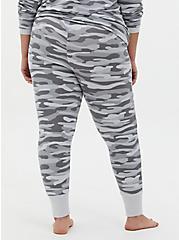 Grey Camo Micro Modal Terry Drawstring Sleep Pant , MULTI, alternate