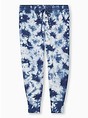 Navy Tie-Dye Micro Modal Terry Drawstring Sleep Pant , MULTI, hi-res