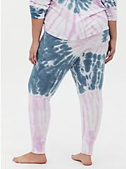 Blue & Purple Tie-Dye Micro Modal Terry Drawstring Sleep Pant , MULTI, alternate
