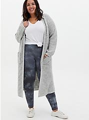 Plus Size Premium Legging - Tie-Dye Dark Grey, GREY, alternate