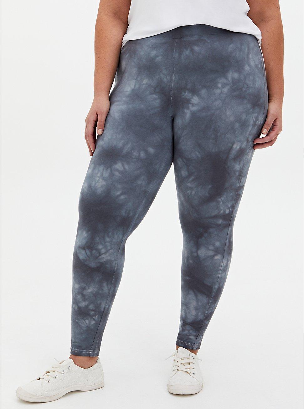 Plus Size Premium Legging - Tie-Dye Dark Grey, GREY, hi-res
