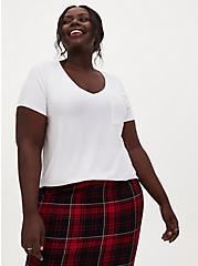 Slim Fit Pocket Tee - Super Soft White, BRIGHT WHITE, hi-res