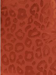 Copper Leopard Jacquard Ruffle Wrap Midi Skirt , COPPER, alternate