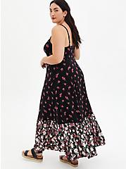 Barbie Black Floral Maxi Dress, BARBIE FLORAL, alternate