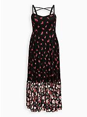Barbie Black Floral Maxi Dress, BARBIE FLORAL, hi-res