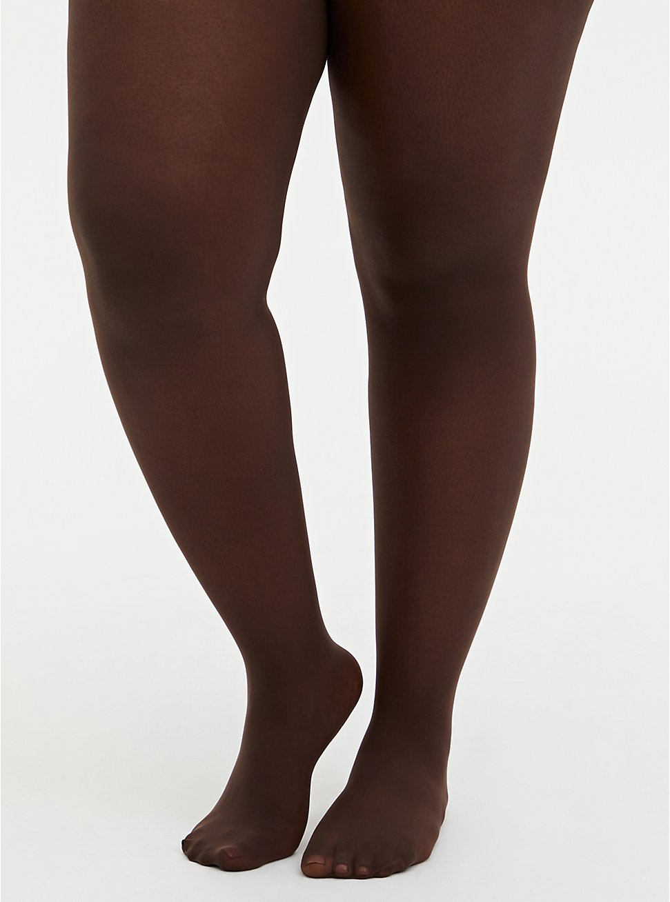 Plus Size  Sheer Chocolate Brown Tights, BROWN, hi-res