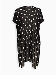 Disney Minnie Mouse Black Duster Kimono, MINNIE MOUSE DOT, hi-res