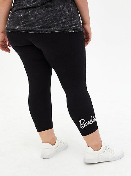 Barbie Black Crop Legging, DEEP BLACK, alternate
