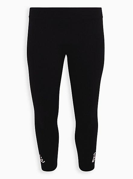 Barbie Black Crop Legging, DEEP BLACK, hi-res