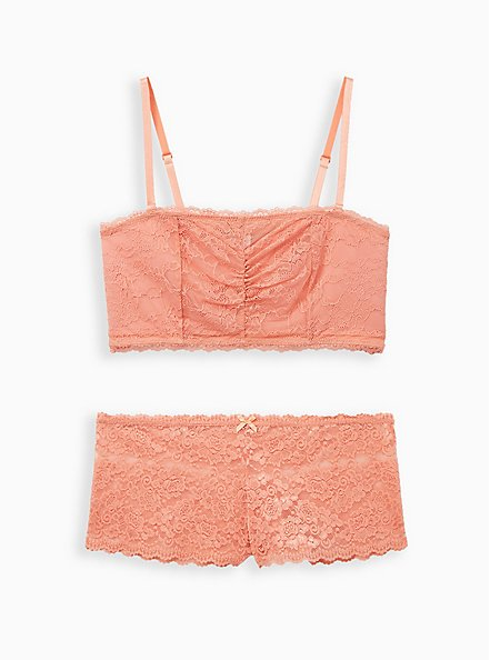 Coral Lace Lightly Padded Bandeau, , alternate
