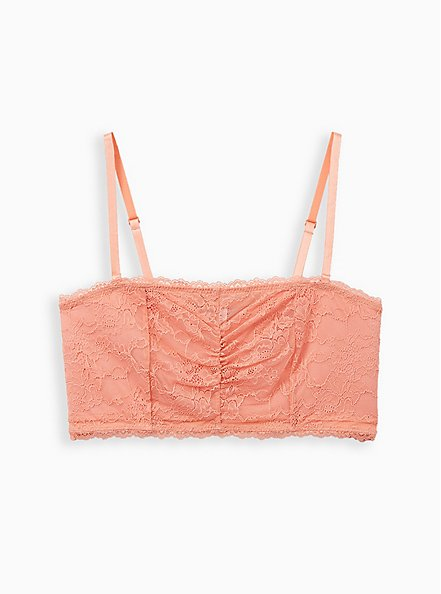 Coral Lace Lightly Padded Bandeau, , hi-res