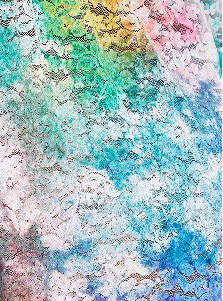 White Tie Dye Lace Babydoll , TIGER DYE, alternate
