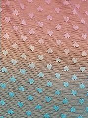 Pink Gradient Ruffle Trim Top , , alternate
