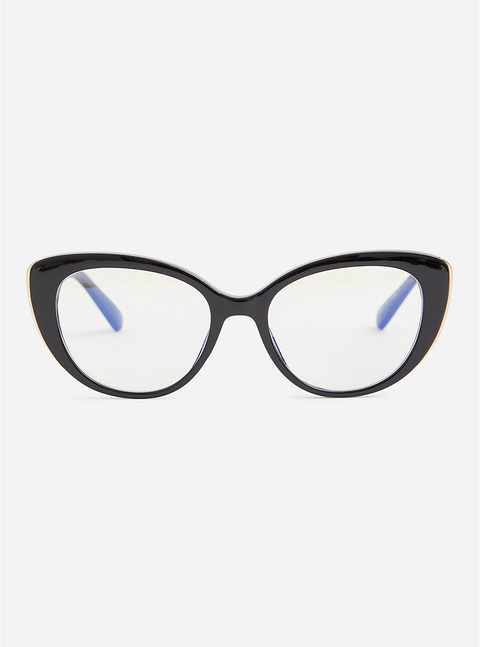 Black Cat Eye Blue Light Glasses, , hi-res