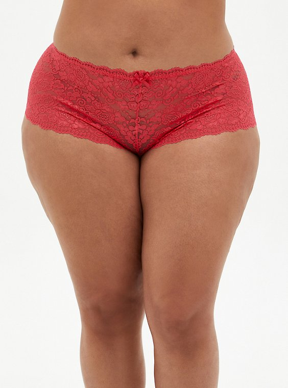 Bright Berry Lace Cheeky Panty, TEA BERRY, hi-res