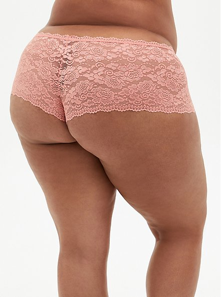 Coral Lace Cheeky Panty, CORAL, alternate
