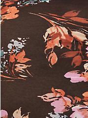Black Floral Mesh Drawstring Cheeky Panty, SPRING FLORAL, alternate