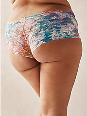 White Tie-Dye Lace Cheeky Panty , TIGER DYE, alternate