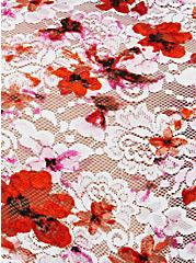 White & Orange Floral Lace High Waist Panty , , alternate