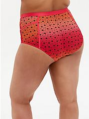 Raspberry Pink Ombre Star Mesh High Waist Panty, SUNSET STARS, alternate