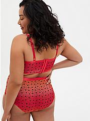 Raspberry Pink Ombre Star Mesh High Waist Panty, SUNSET STARS, alternate