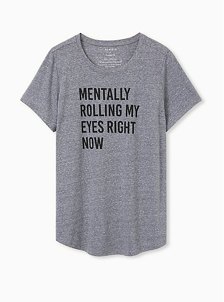 Rolling Eyes Classic Fit Crew Tee - Triblend Grey, MEDIUM HEATHER GREY, hi-res