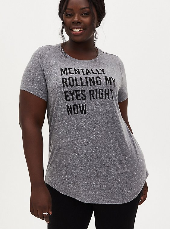 Rolling Eyes Classic Fit Crew Tee - Triblend Grey, , hi-res