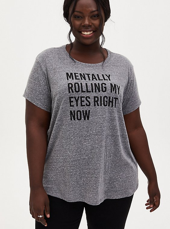 Rolling Eyes Relaxed Fit Crew Tee - Triblend Grey, , hi-res