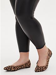 Leopard Stretch Knit Pointed Toe Flat (WW), ANIMAL, hi-res
