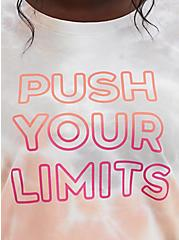 Push Your Limits Coral Tie-Dye Active Sweatshirt, TIE DYE, alternate