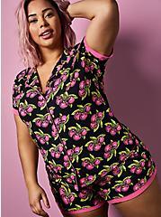 Betsey Johnson Super Soft Black Cherry Sleep Short, MULTI, hi-res