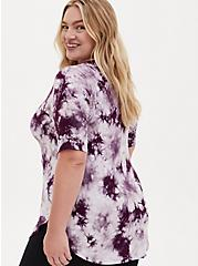 Beautiful Favorite Tunic Tee - Super Soft Tie-Dye Purple , WINETASTING, alternate