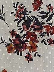 Taupe Floral Clip Dot Kimono, MULTI FORAL, alternate