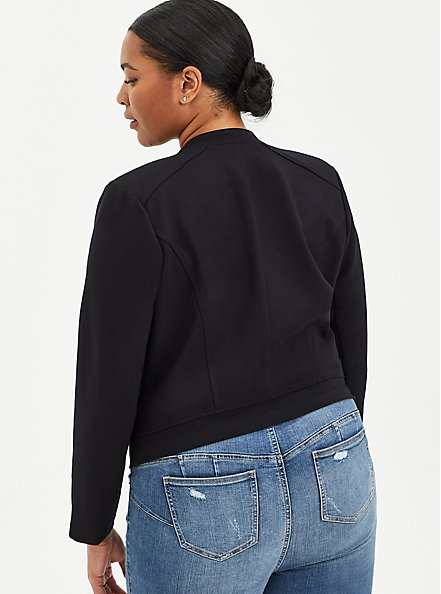 Black Ponte Moto Jacket , DEEP BLACK, alternate